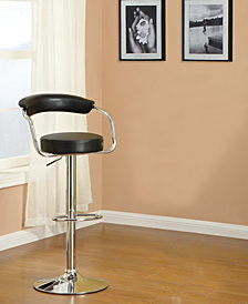 Back Cushion Bar Stool, Black