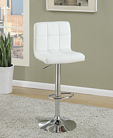 Tufted Bar Stool, White