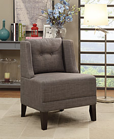 Fabric Side Chair, Brown