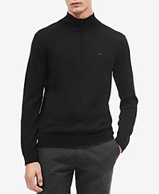 Calvin Klein Men's Classic Merino Wool Quarter-Zip Sweater
