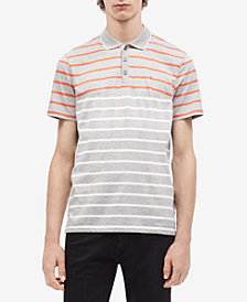 Calvin Klein Men's Striped Polo