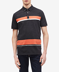 Calvin Klein Men's Colorblocked Striped Polo