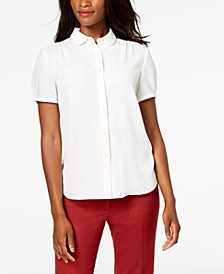 Shirred Button-Front Blouse, Created for Macy's