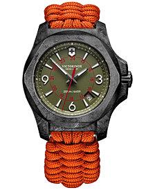 Victorinox Swiss Army Men's Swiss I.N.O.X. Carbon Orange Paracord Strap Watch 43mm - Limited Edition