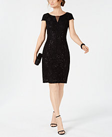 Connected Sequin Lace Sheath Dress