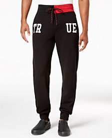 True Religion Men's Colorblocked Logo Graphic Joggers