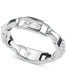 Women's Mercer Link Sterling Silver Padlock Ring
