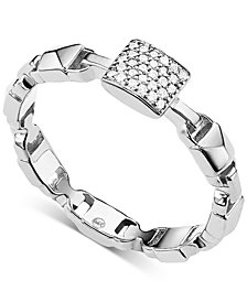 Michael Kors Women's Mercer Link Sterling Silver Ring