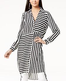 I.N.C. Striped High-Low Tunic, Created for Macy's