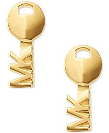 Michael Kors Women's Sterling Silver Key Stud Earrings