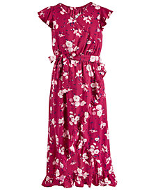 Epic Threads Big Girls Floral-Print Faux-Wrap Maxi Dress, Created for Macy's