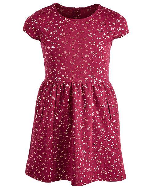 bb685f2c5741 ... Epic Threads Big Girls Pont eacute  Knit Star-Print Dress