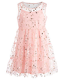 Epic Threads Big Girls Star-Print Mesh Dress, Created for Macy's