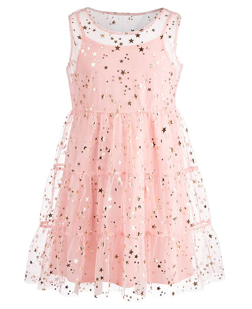d18eacb33ddb ... Epic Threads Big Girls (Size 16) Star-Print Mesh Dress