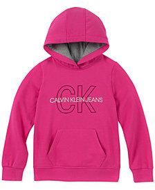 Calvin Klein Big Girls Logo Graphic Hoodie