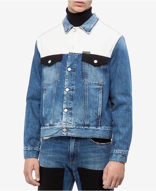 Calvin Klein Jeans Men s Modern Classic Trucker Jacket - Coats ... 83b87e3b10