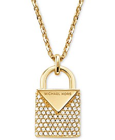 Michael Kors Women's Kors Color Pavé Sterling Sterling Silver Padlock Charm