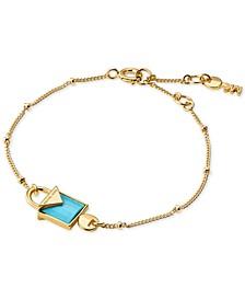 Women's Kors Color Semi-Precious Sterling Silver Bracelet