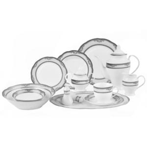 Lorren Home Trends Victoria 57Pc Dinnerware Set Service for 8