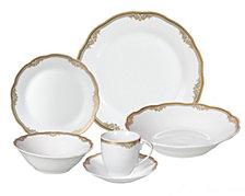 Lorren Home Trends Catherine 24-Pc. Dinnerware Set, Service for 4