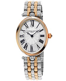 Women's Swiss Art Deco Two-Tone Stainless Steel Bracelet Watch 30x25mm