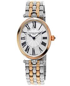 Frederique Constant Women's Swiss Art Deco Two-Tone Stainless Steel Bracelet Watch 30x25mm