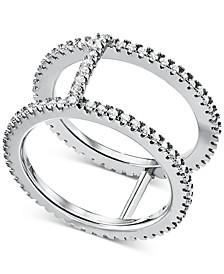 Women's Custom Kors Sterling Silver Pavé Nesting Ring Jacket