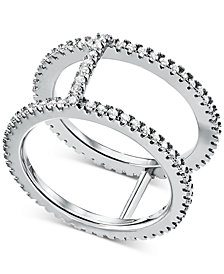 Michael Kors Women's Custom Kors Sterling Silver Pavé Nesting Ring Jacket