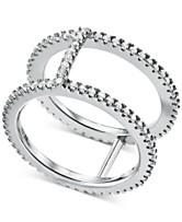 4409ff0758d21 Michael Kors Women s Custom Kors Sterling Silver Pavé Nesting Ring Jacket