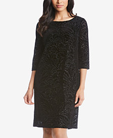 Karen Kane Velvet Burnout Shift Dress