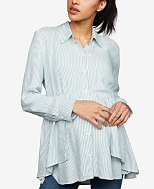 A Pea In The Pod Maternity Handkerchief-Hem Blouse