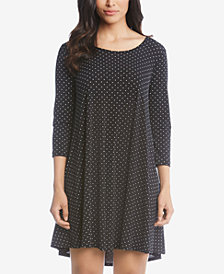 Karen Kane Printed High-Low Trapeze Dress