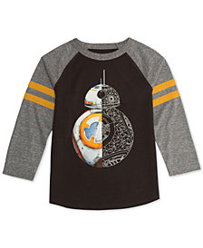 Star Wars Little Boys BB8 Graphic Raglan T-Shirt