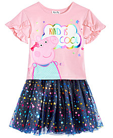 Peppa Pig Little Girls 2-Pc. T-Shirt & Star-Print Skirt Set