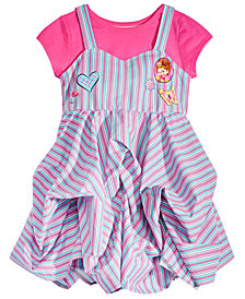 Disney Little Girls 2-Pc. Fancy Nancy T-Shirt & Cotton Dress Set