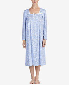 Eileen West Cotton Printed Ballet Nightgown