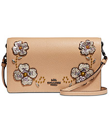 COACH Sequin Detail Foldover Crossbody