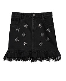 GUESS Big Girls Rhinestone Denim Skirt
