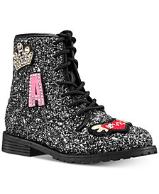 Nina Toddler, Little & Big Girls Whitney Chunky Glitter Boots