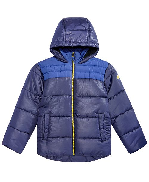 Big Boys Samuel Hooded Colorblocked Jacket