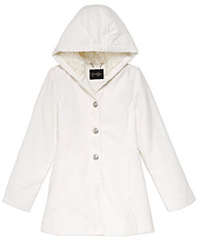 Jessica Simpson Little Girls Hooded Embossed Floral-Print Jacket