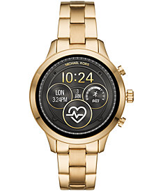 Michael Kors Access Unisex Runway Gold-Tone Stainless Steel Bracelet Touchscreen Smart Watch 41mm