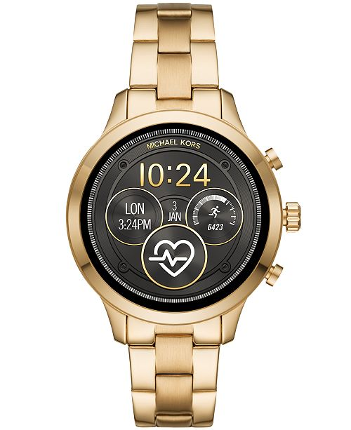 81c5ba1da2e2 ... Michael Kors Access Unisex Runway Gold-Tone Stainless Steel Bracelet  Touchscreen Smart Watch 41mm ...
