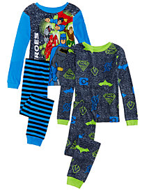 AME Big Boys 4-Pc. Justice League Cotton Pajama Set
