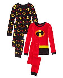 Disney's Big Boys 4-Pc. The Incredibles Cotton Pajama Set