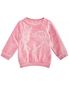 First Impressions Baby Girls Heart Graphic Velour Shirt, Created for Macy's