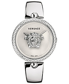 Versace Women's Swiss Palazzo Empire Stainless Steel Semi-Bangle Bracelet Watch 39mm