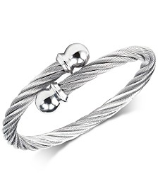 CHARRIOL Cable Twist Bangle Bracelet in Stainless Steel