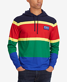 Polo Ralph Lauren Men's Hi Tech Colorblocked Cotton Long Sleeve Classic Fit Hoodie