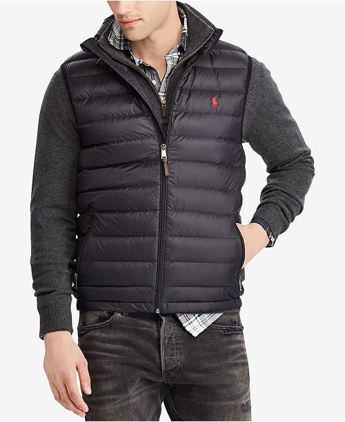 8ff92cdfc020b Polo Ralph Lauren Men's Packable Down Vest & Reviews - Coats ...